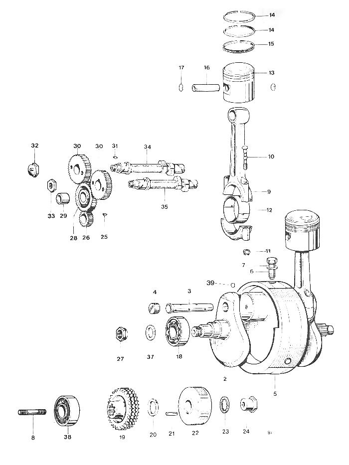 Triumph T140 Crankshaft and Connecting Rods