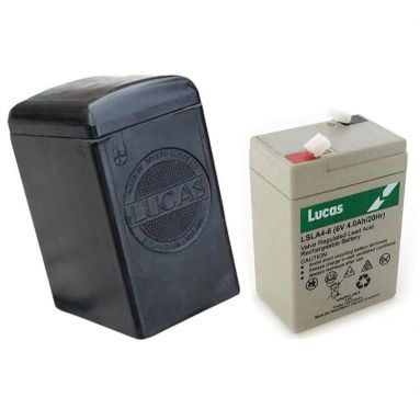 ucas side badge Battery Case with 6V Dry Cell Battery