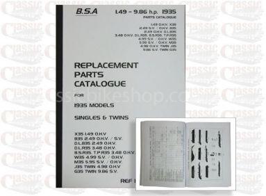 BSA 1935 Parts Book All Models