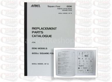 Ariel 1936 Square 4-4F/6 Parts Book