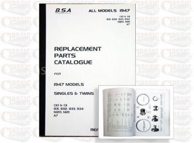 BSA 1947 Parts Book All Models