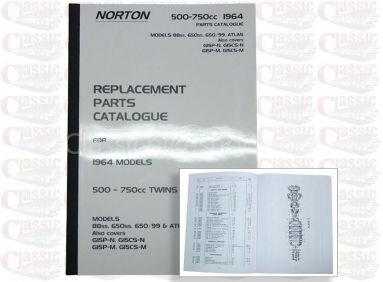 Norton 1964 88ss 650ss 650/99 Atlas G15 Parts Book