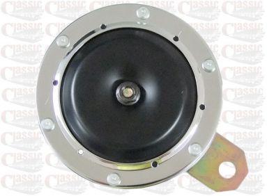 12 Volt Classic Chrome Rim Horn 100mm Diameter