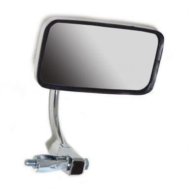 Large Chrome Rectangle Bar End Mirror 7/8'' Bars