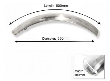 Short alloy mudguard