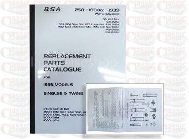 BSA 1030 Parts books all models