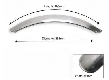 "Short Front Mudguard Aluminium , 93 mm width , 390 mm length , useful for 16"" /21"""
