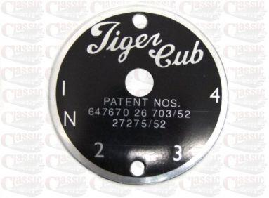 Triumph Tiger Cub Gear Indicator Plate