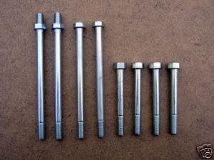 Triumph T110/T120 Pre-unit models (1957-62). Alloy 8 Piece Cylinder Head Bolt Set