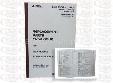 Ariel 1937 Sqaure 4-4G, 4G Parts Book
