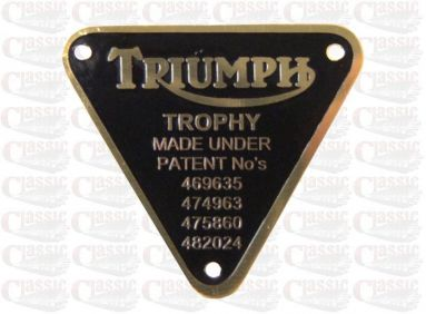 "Timing Cover Plate Triumph ""Trophy"""