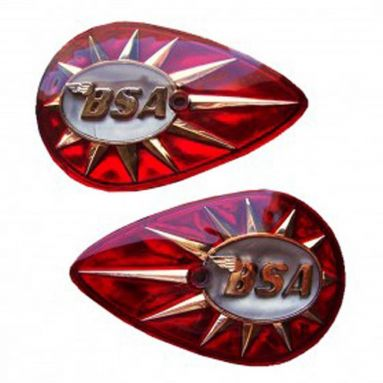 BSA Pear Shaped Tank Badges 1957-67 40-8014,40-8015