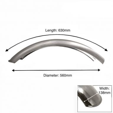 "Rear Short Alloy Mudguard 18"" - 19"" inch wheel"