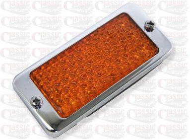 Triumph BSA Triples Oil Cooler Side Amber Reflector 99-1119 T150 A75