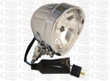 Chrome Motorcycle Spotlight Bullet shape