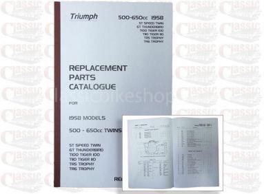 Triumph 1958 Parts Book