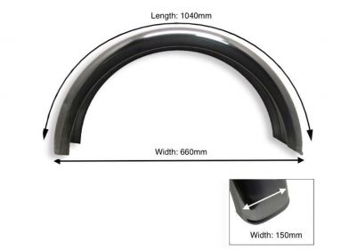 Rear Plain Steel Mudguard 15 Inch Wheel