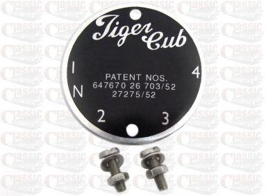 Triumph Tiger Cub Gear Indicator Blank Plate
