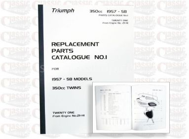 Triumph 1957/ 58 3TA 350cc Parts Book