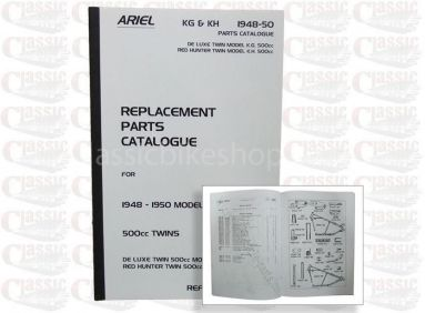 Ariel 1948-50, KH, KG Twin Parts Book
