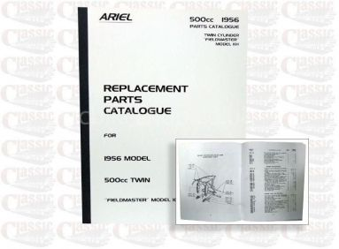 Ariel 1956 KH Fieldmaster Twin Parts Book