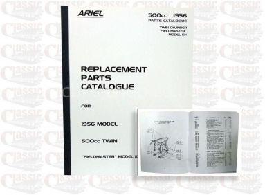 Ariel 1956 KH Fieldmaster Twin Parts Book