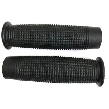 Vintage Black Handlebar Grips 7/8'' (Lever type throttles)