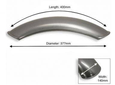 "Short Plain Steel Front Mudguard 15"" - 18"" Inch Wheel"