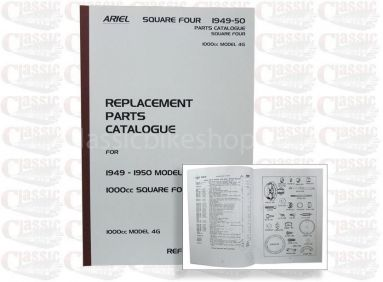 Ariel 1949-50 Square 4 1000cc MK4G Parts Book