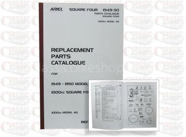 Ariel 1949-50 Square 4 1000cc MK4G Parts Book