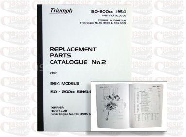 Triumph 1954 T20 Parts Book