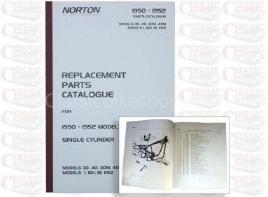 Norton 1950-52 1, 16H, ES2, 30, 40, 30M, Pars Book