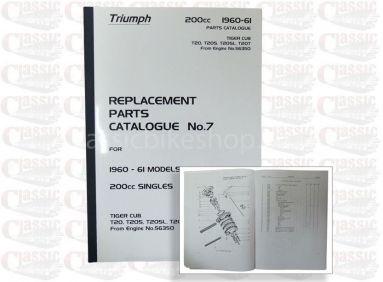 Triumph 1960/61 T20 Parts Book