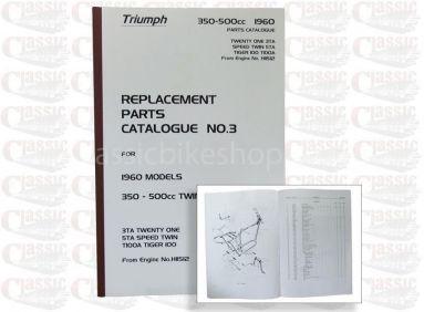 Triumph 1960 3TA/ 5TA/ T100A Parts Book