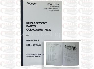 Triumph 1959 T20 Parts Book