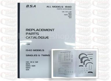 BSA 1940 Parts book