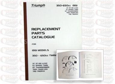 Triumph 1951 p/u Parts Book