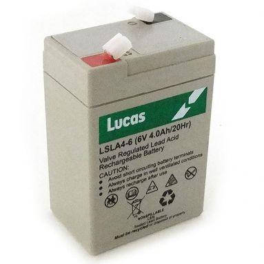 6 Volt 4AH AGM Lucas Battery LSLA4-6
