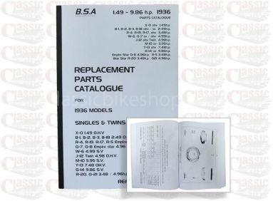 BSA 1936 Parts Book All Models