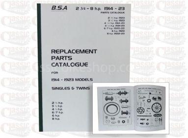 BSA 1914-23 Parts Book All Models
