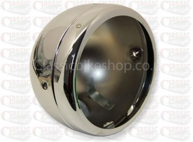 Genuine Lucas Chrome Headlight Shell