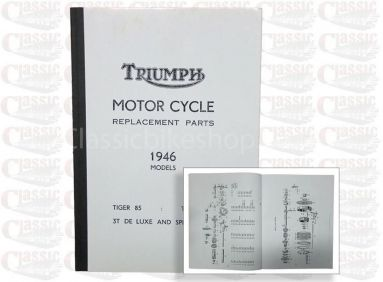 Triumph 1946 Tiger 85, Tiger 100 3T Parts Book
