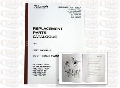 Triumph 1957 p/u Parts Book