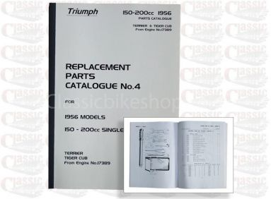 Triumph 1956 Terrier 150cc OHV Parts book