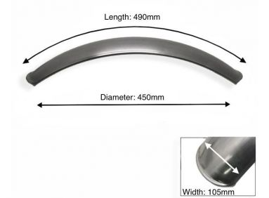 "Short Plain Steel Front Mudguard 17"" - 19"" Inch Wheel"