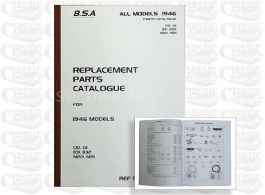 BSA 1946 Parts Book Models