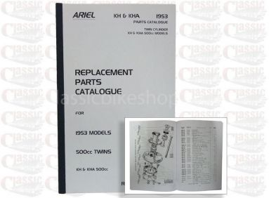 Ariel 1953 Twin KH & KHA Parts Book