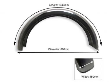 Rear Plain Steel Mudguard