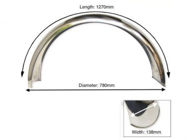 Rear Stainless steel Mudguard BSA
