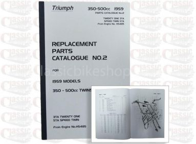 Triumph 1959 3TA, 5TA Parts Book